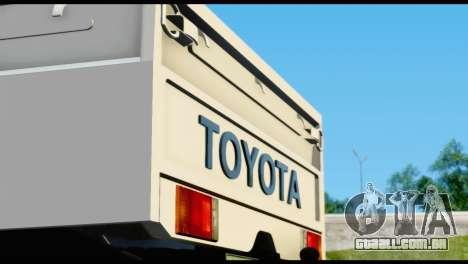 Toyota Land Cruiser Macho Pick-Up 2007 4.500 para GTA San Andreas vista interior