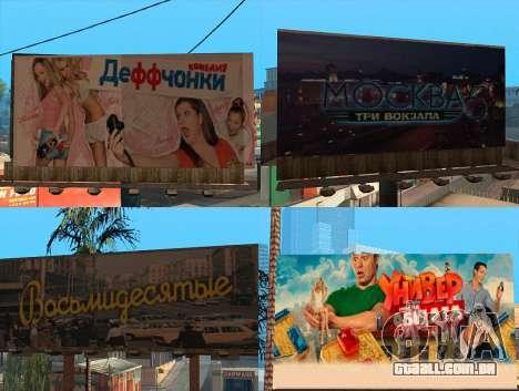Substituição de publicidade (banners) para GTA San Andreas segunda tela