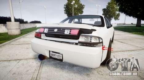 Nissan Silvia S14 Missile para GTA 4 traseira esquerda vista