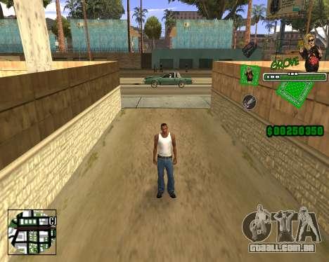 C-HUD Grove St. para GTA San Andreas por diante tela