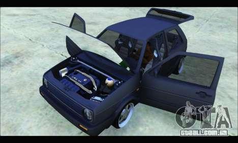 VW Golf MK2 para GTA San Andreas vista direita
