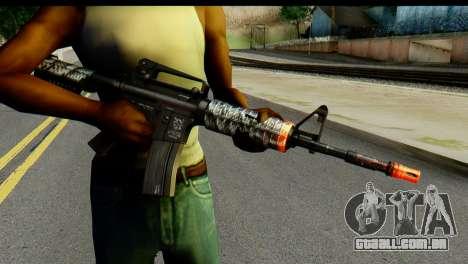 Kill Em All M4 para GTA San Andreas terceira tela