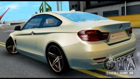 BMW 4-series F32 Coupe 2014 Vossen CV5 V1.0 para GTA San Andreas esquerda vista