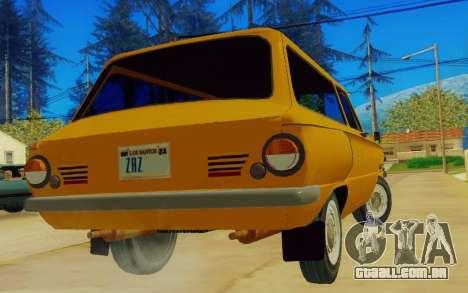 ZAZ 968 para GTA San Andreas traseira esquerda vista