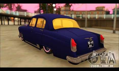 GAZ 21 Volga Resto para GTA San Andreas traseira esquerda vista