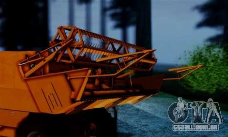 FMZ BIZON Super Z056 1985 Orange para GTA San Andreas traseira esquerda vista