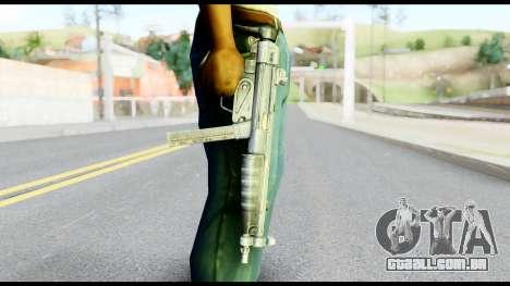 MP5 com o cano Dobrado para GTA San Andreas terceira tela