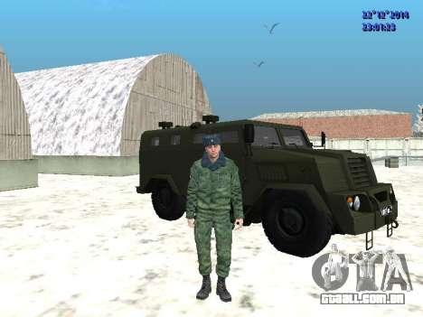 MIC-3924 Blindados Urso para GTA San Andreas traseira esquerda vista