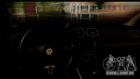 Volkswagen Golf 5 para GTA San Andreas traseira esquerda vista
