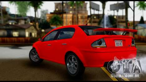 DeClasse Premier from GTA 5 IVF para GTA San Andreas esquerda vista