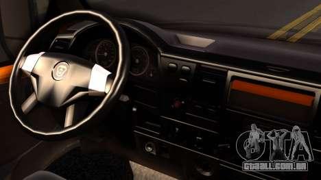 Gazela 3221 2007 para GTA San Andreas traseira esquerda vista