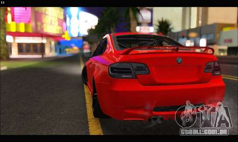 BMW M3 GTS 2010 para vista lateral GTA San Andreas
