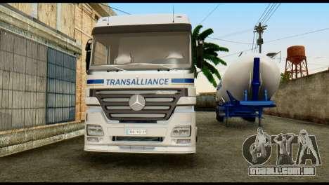 Mercedes-Benz Actros Trailer Transalliance para GTA San Andreas