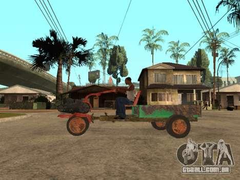 Batmóvel para GTA San Andreas vista direita