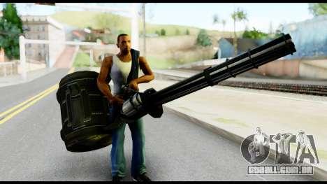 Raven Vulcan Gun from Metal Gear Solid para GTA San Andreas terceira tela