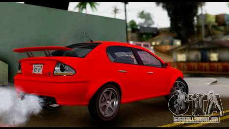DeClasse Premier from GTA 5 IVF para GTA San Andreas traseira esquerda vista