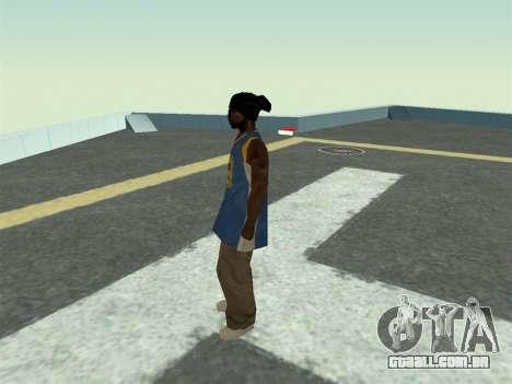 Ballas1 New Skin para GTA San Andreas terceira tela