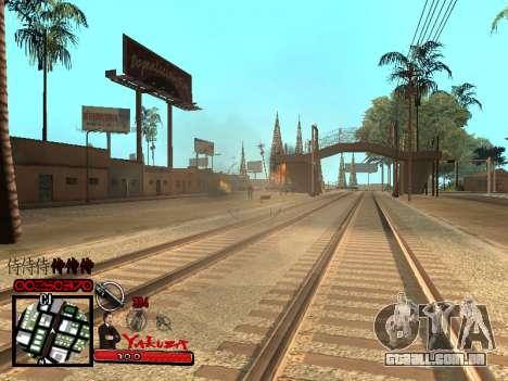 C-HUD Yakuza para GTA San Andreas quinto tela