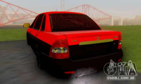 Lada Priora Glers Project para GTA San Andreas esquerda vista