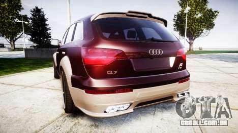 Audi Q7 2009 ABT Sportsline [Update] rims2 para GTA 4 traseira esquerda vista