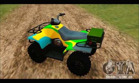 ATV Color Camo Army Edition para GTA San Andreas traseira esquerda vista