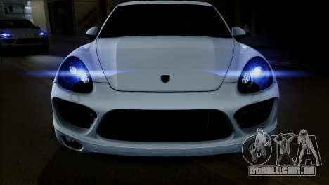 Porsche Cayenne Turbo 2012 para GTA San Andreas vista interior