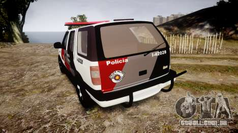 Chevrolet Blazer 2010 Tactical Force [ELS] para GTA 4 traseira esquerda vista