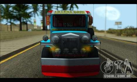 Jeepney Legacy para GTA San Andreas esquerda vista