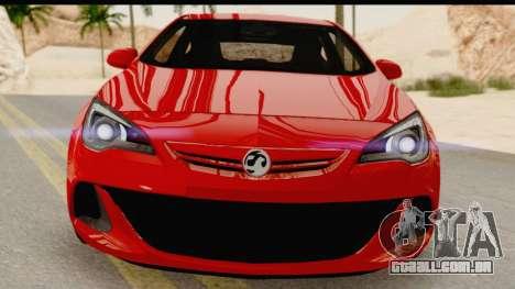 Vauxhall Astra VXR para GTA San Andreas vista interior