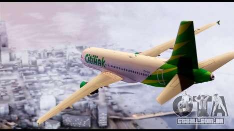 Citilink Airbus A320 PK-GLV para GTA San Andreas esquerda vista