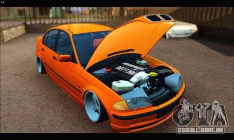 BMW e46 Sedan para GTA San Andreas esquerda vista