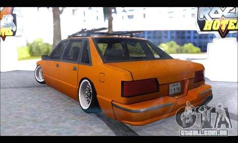 Taxi Extreme Tuning (Hellalfush) para GTA San Andreas traseira esquerda vista