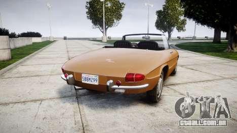 Alfa Romeo Spider 1966 para GTA 4 traseira esquerda vista