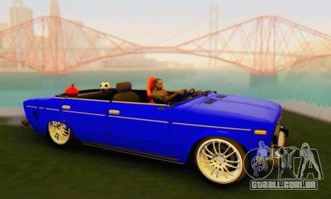 VAZ 2106 Convertible para GTA San Andreas traseira esquerda vista
