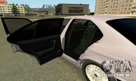 BMW 525 Turbo para GTA San Andreas vista interior