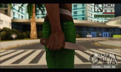 Faca romeno CR1 para GTA San Andreas segunda tela