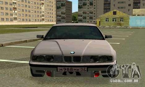 BMW 525 Turbo para GTA San Andreas esquerda vista