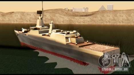 Admiral Sergey Gorshkov para GTA San Andreas esquerda vista