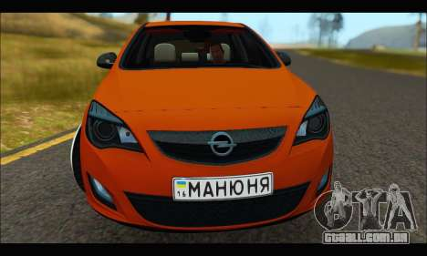 Opel Astra J para GTA San Andreas esquerda vista