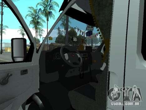 Gazela 33023 Agricultor para GTA San Andreas vista traseira