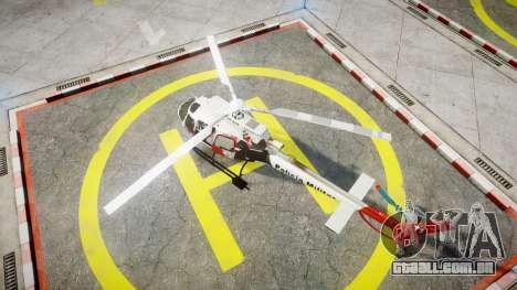 Eurocopter AS350 Ecureuil Aguia 11 PMESP para GTA 4 traseira esquerda vista