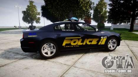 Dodge Charger RT 2013 LCPD [ELS] para GTA 4 esquerda vista
