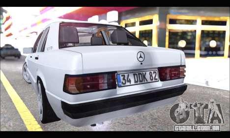 Mercedes Bad-Benz 190E (34 DDK 82) para GTA San Andreas vista direita