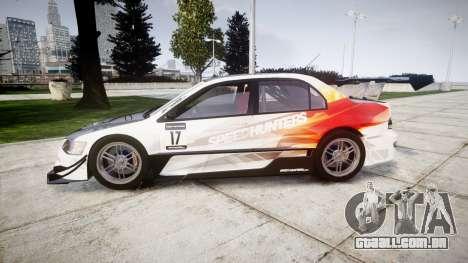 Mitsubishi Lancer Evolution IX HQ para GTA 4 esquerda vista