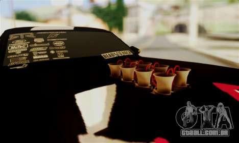 Ford Mustang RTR RedBull para GTA San Andreas vista interior