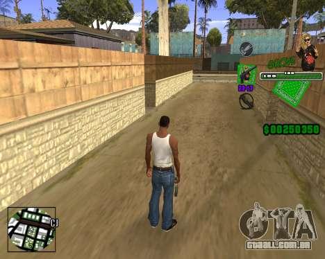 C-HUD Grove St. para GTA San Andreas terceira tela