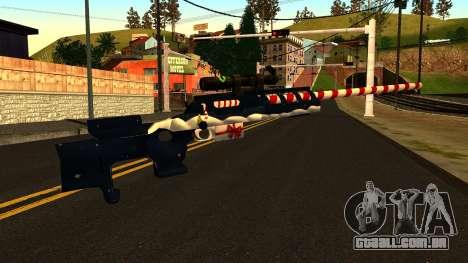 Ano Novo Rifle Sniper para GTA San Andreas segunda tela