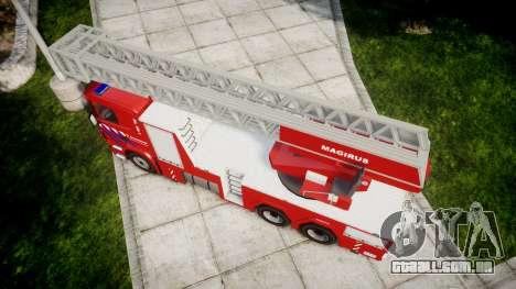 Scania R580 Dutch Fireladder [ELS] para GTA 4 vista direita