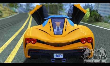 Grotti Turismo R v2 (GTA V) (IVF) para GTA San Andreas vista direita