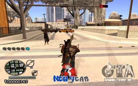 C-HUD New Year para GTA San Andreas terceira tela